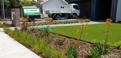 synthetic grass and planting