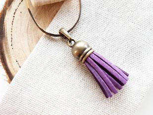 purple tassel charm