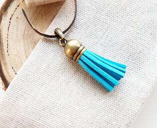 blue tassel charm
