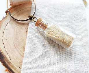 glass vial charm