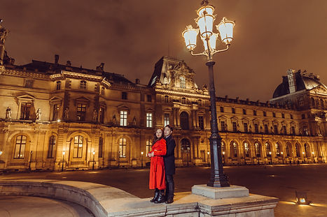 night photo session PARIS Louvre