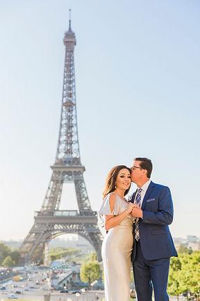 Eiffel Tower Couple Paris
