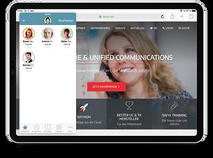 Swyx Mobile IOS iPad Favorites & Safari