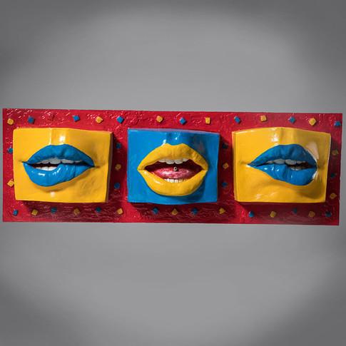 """Colored lips"" - Arte Pop"