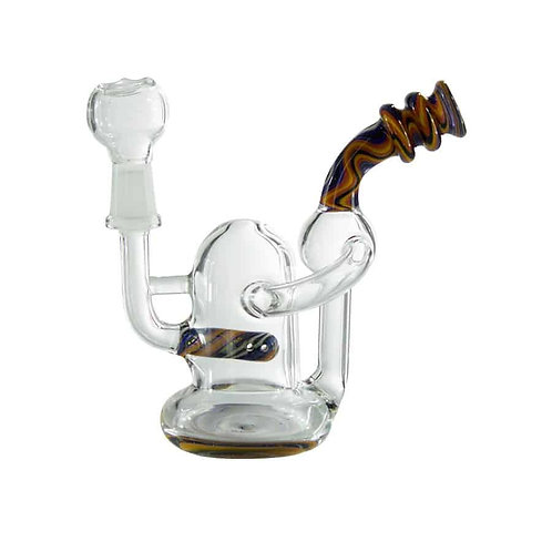4″ Micro Reversal Inline Recycler Dab Rig 10mm