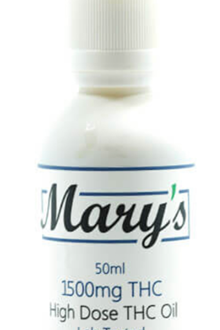 Mary's High Dose THC Oil (1500mg)