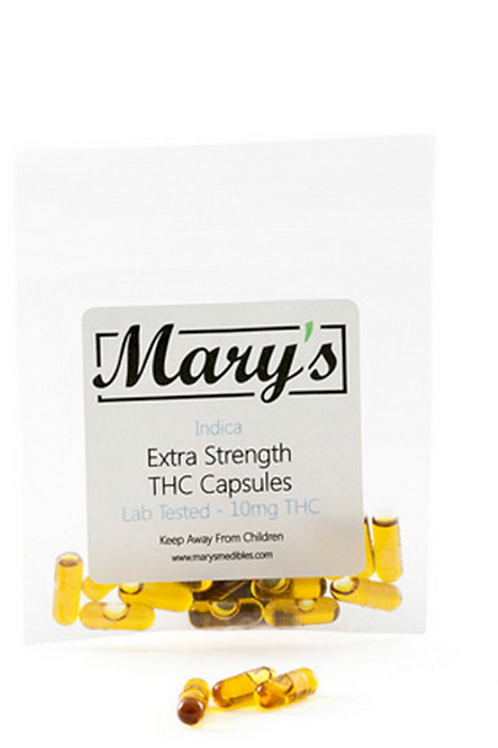 Mary's THC Capsules (10mg, Indica) – 40 Capsules