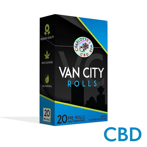 VAN CITY ROLLS | CHARLOTTE'S WEB | CBD | INDICA DOMINANT HYBRID