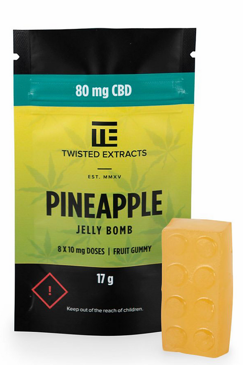 Jelly Bomb – Pineapple (80mg) CBD