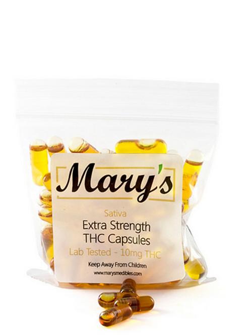 Mary's THC Capsules (10mg, Sativa) – 40 Capsules