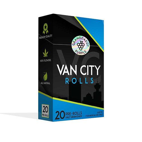VAN CITY ROLLS   GRANDDADDY PURPLE   INDICA DOMINANT HYBRID