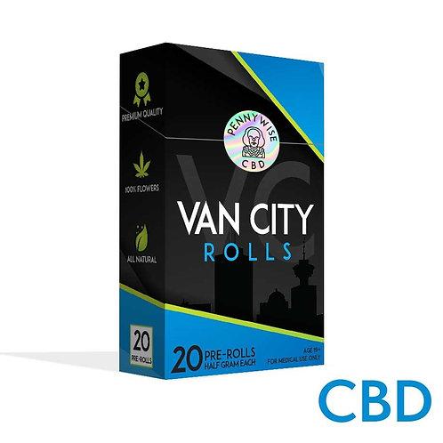 VAN CITY ROLLS | PENNYWISE | CBD | INDICA DOMINANT HYBRID