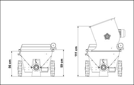 filling height ps 180 v plastering machi