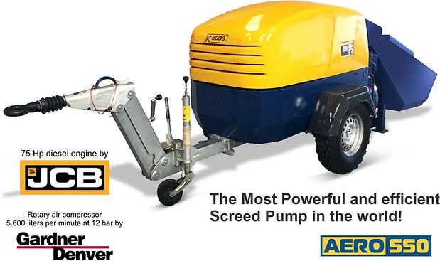 AERO 550 screed pump