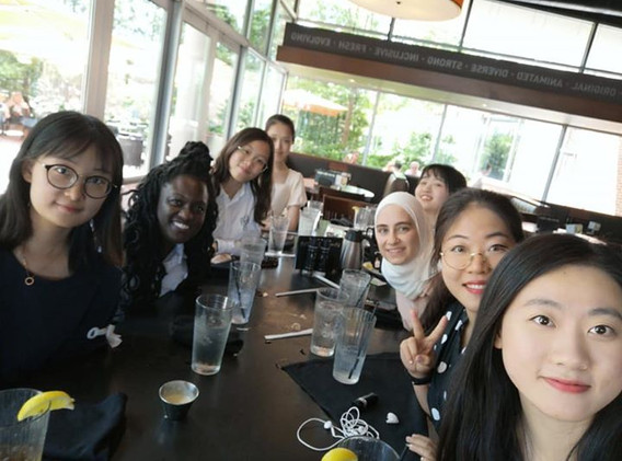 Lunch with visiting scholars