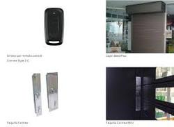 puerta enrollable de aluminio
