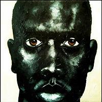 black man face brown eyes dark skin melanin
