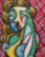 cubist woman painting art atlanta