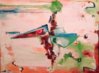 abstract art genesis painting bird creation