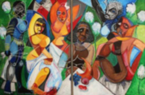 seven demoiselle d'avignon picasso cubist painting artbeets atlanta artist