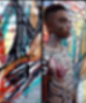 artbeets tribal art body paint urban basquiat body atlanta