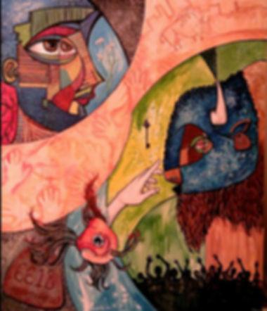 bisons tale dream mythology goldfish art painting