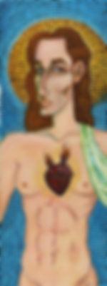 mosaic style acrylic painting artbeets jesus christ religion icon