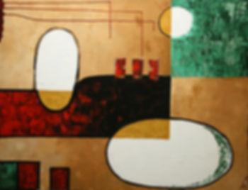 large abstract art painting artbeets atlanta artist