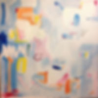 abstract art painting blue