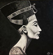 painting art nefertiti queen egypt