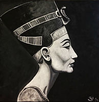 queen nefertiti ancient egypt painting art