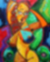 cubist woman cubism picasso painting artbeets atlanta art