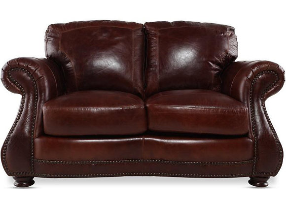 Brandy with Alligator Leather Loveseat