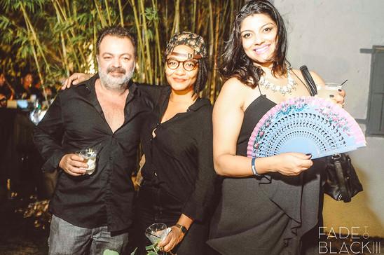 Francisco de la Torre, Tatyana Fazlalizadeh, Jasmine Wahi Fade To Black artist party 2014