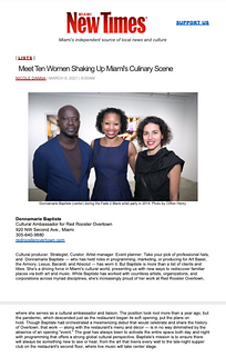 Meet 10 Women Shaking Up Miami's Culinar