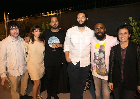 Michael Chuapoco, Karelle Levy, Carlos Omar Gardinet, Tony Lewis, Derrick Adams, Carol Jazzar Fade To Black artist party 2013