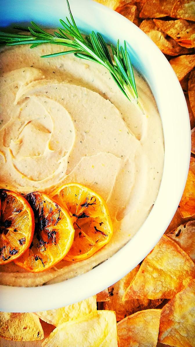 Mediterranian White Bean Dip ~ Oil-Free!