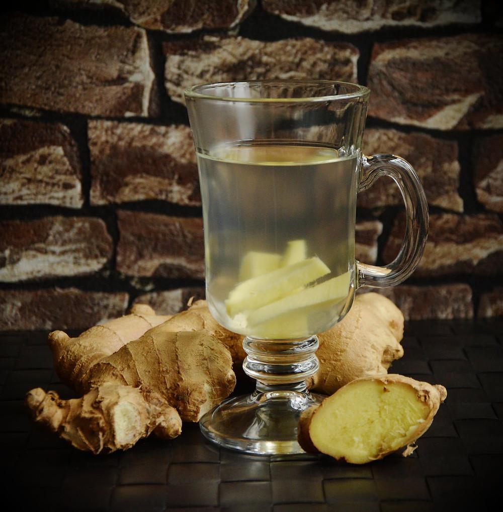 ginger, herb, tea, drink