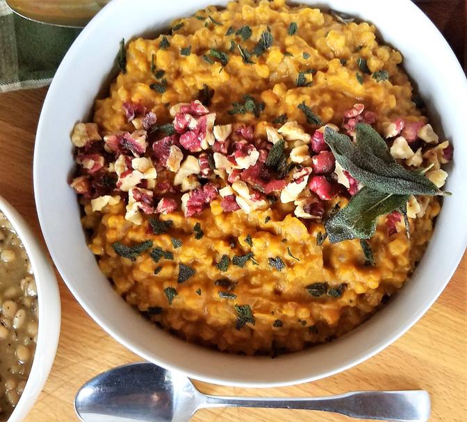 Pumpkin, Sage & Barley Risotto