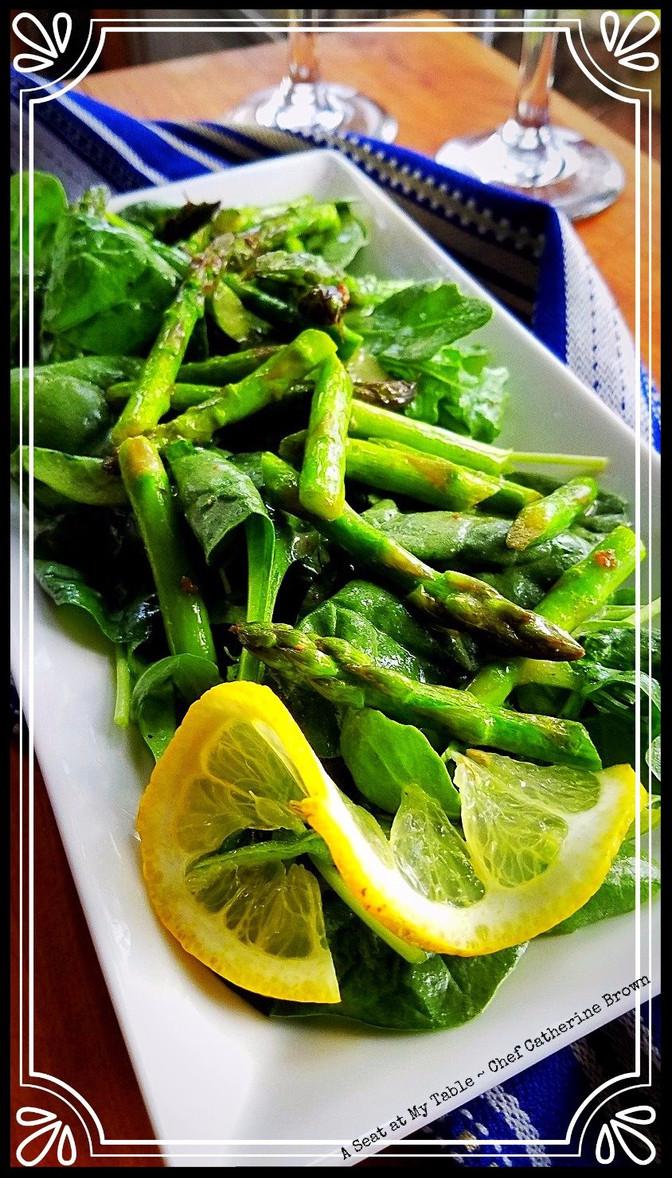 Lemon Dijon Asparagus Salad