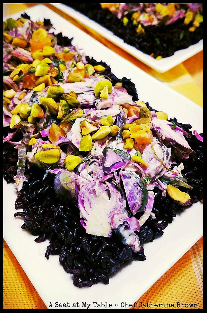 Black Rice & Purple Brussels Sprout Salad