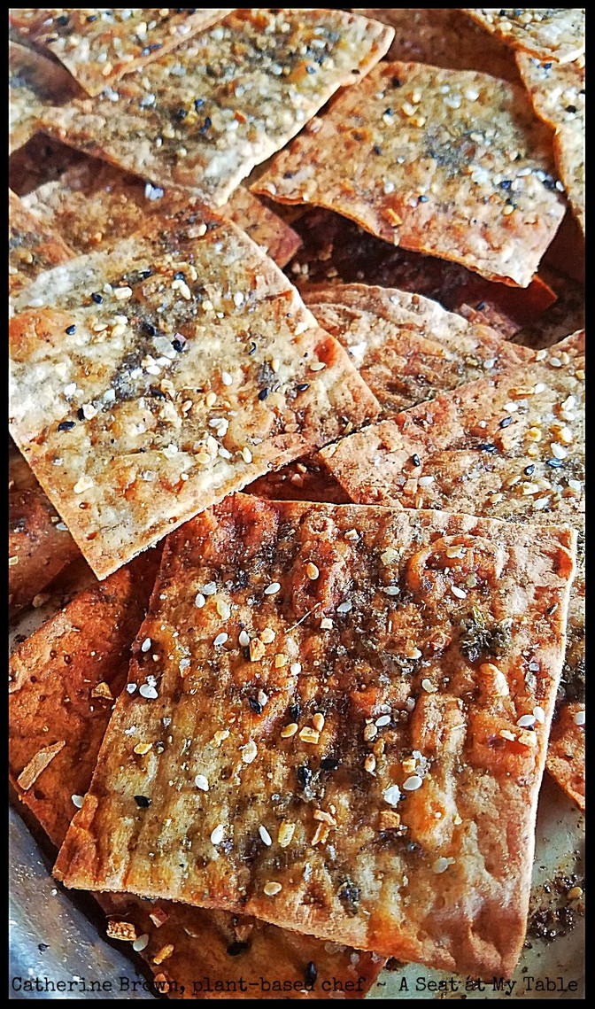 Quick Whole Grain Lavash Crackers