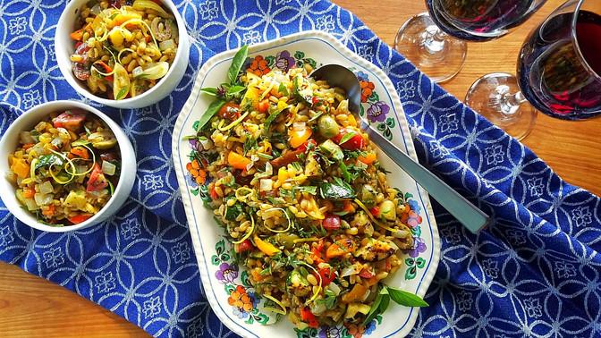 Grilled Summer Veg Kamut Salad