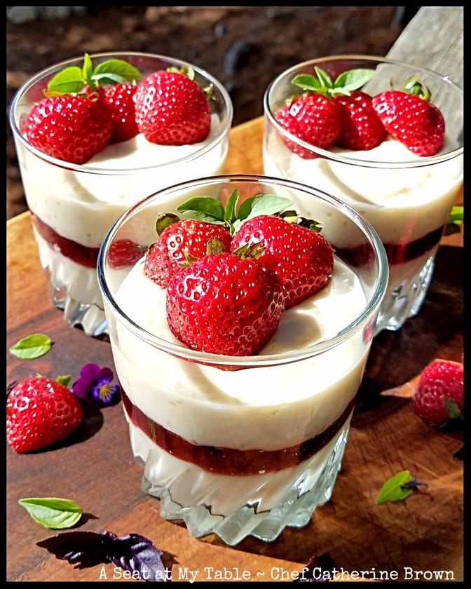 Vegan Strawberry Tapioca Pudding