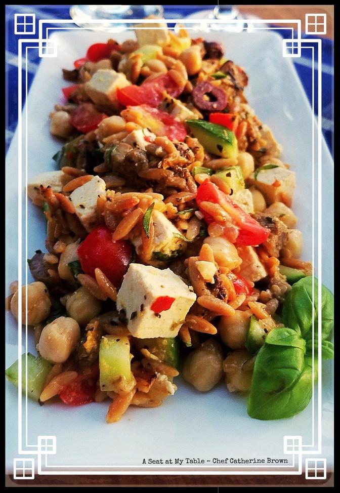 Mediterranean Whole Wheat Orzo Salad