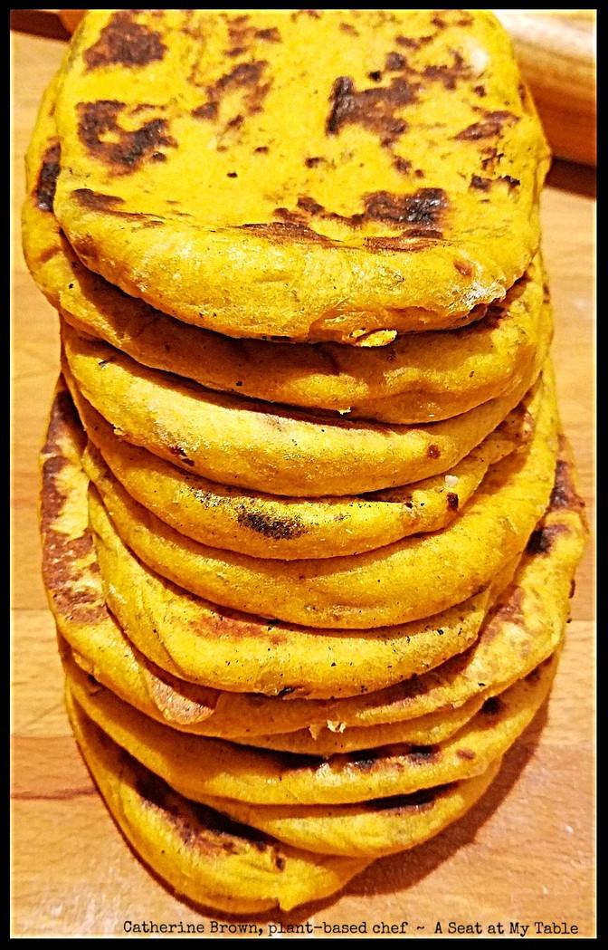 Pumpkin Naan Bread [Vegan]