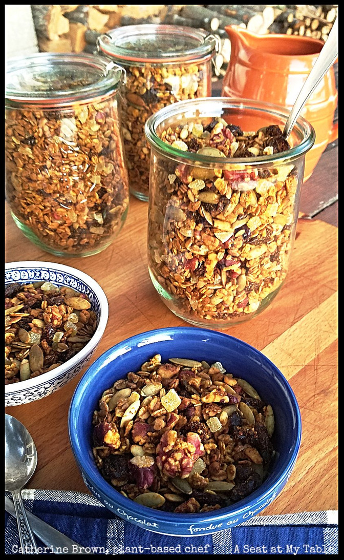 Pumpkin Cranberry Granola, plus the Granola Formula!