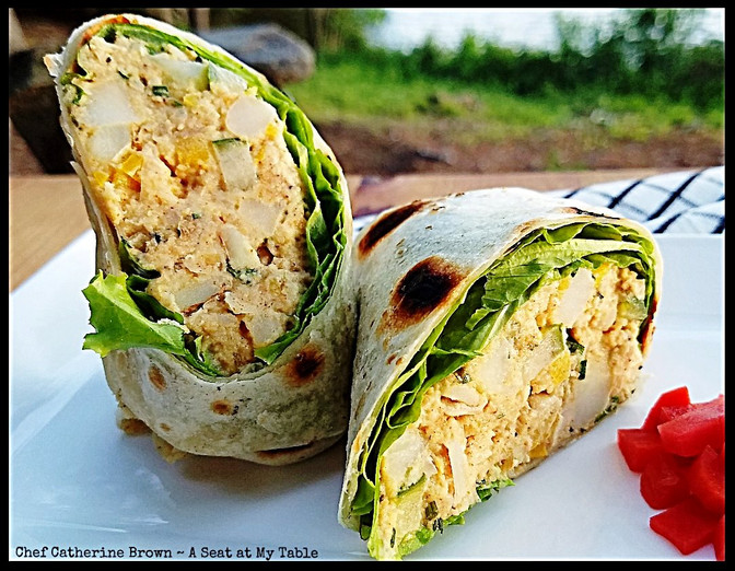 Chickpea Potato Salad Wraps