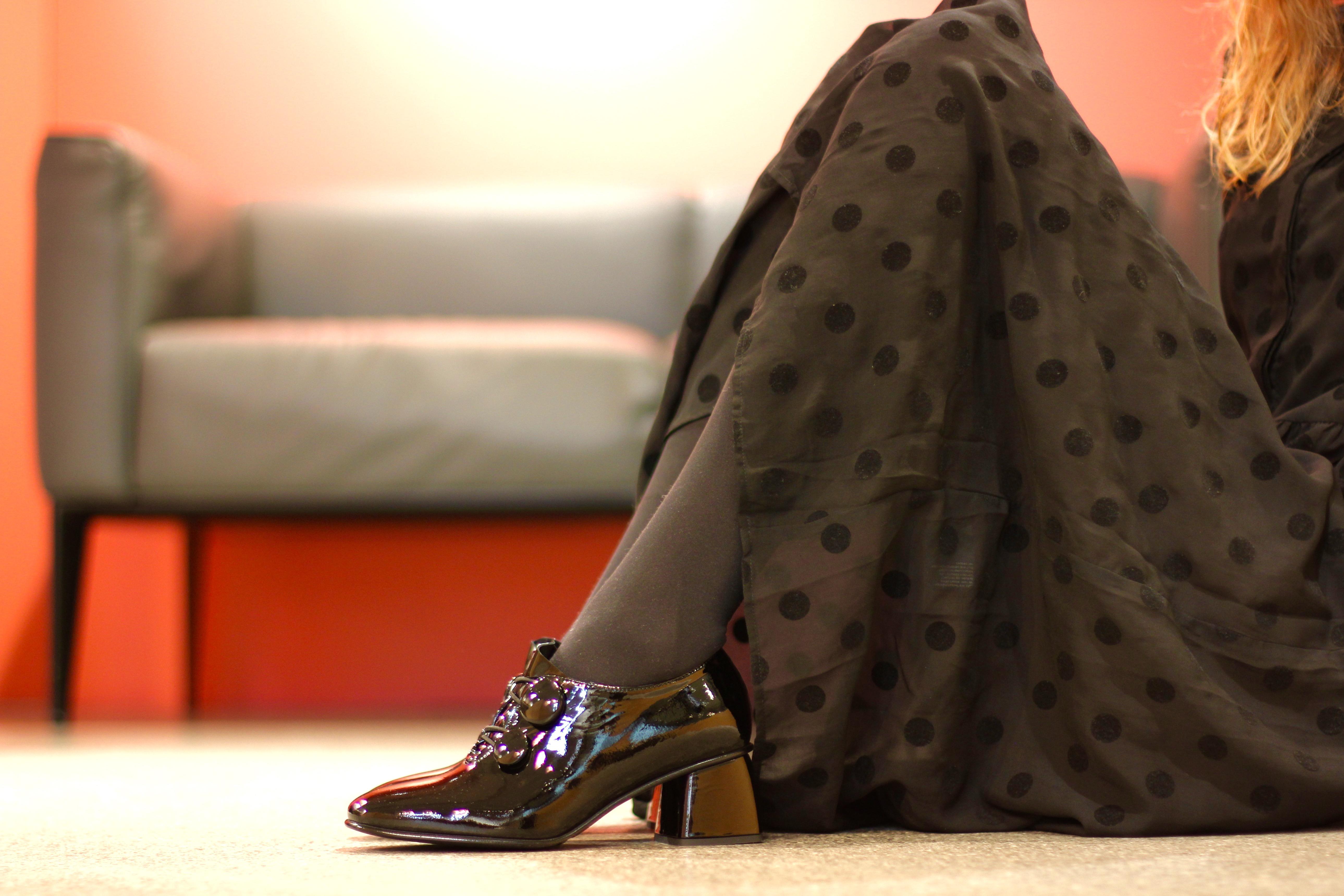 Damenschuhe Lackleder