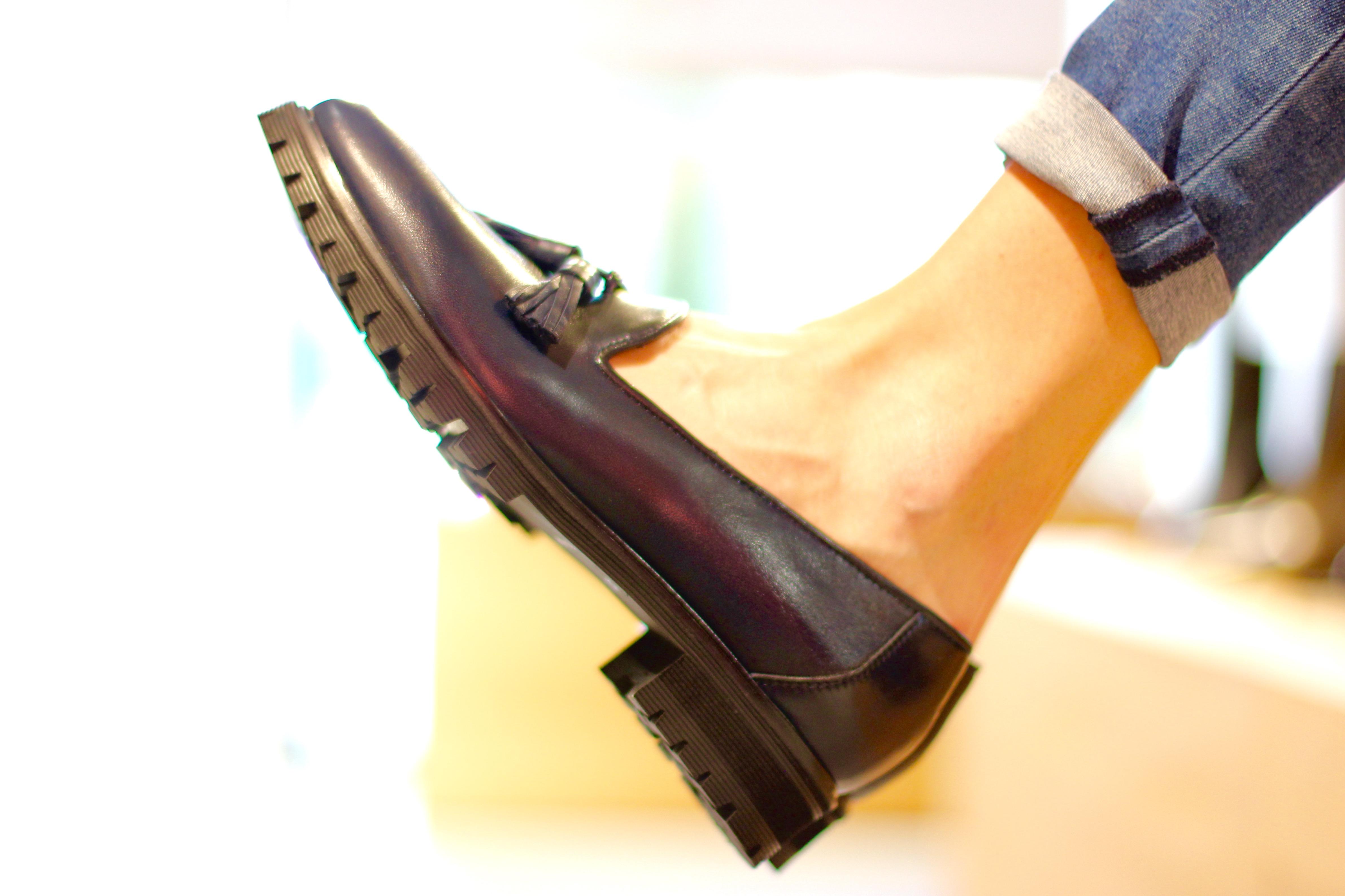 Damenschuhe Loafers Profilsohle